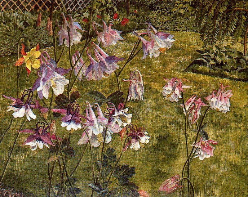 famous painting Columbines of Stanley Spencer