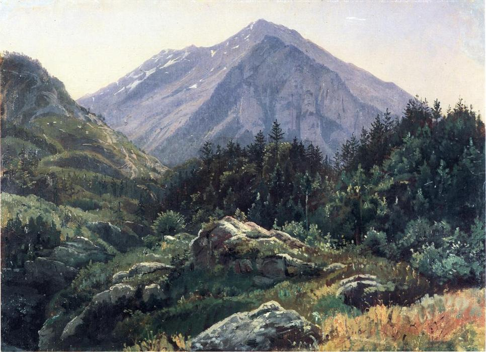 famous painting montanha paisagens Suíça  of William Stanley Haseltine