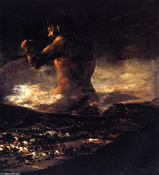 famous painting o colosso of Francisco De Goya