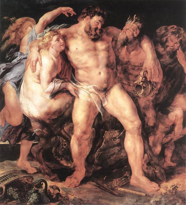 famous painting o Bêbado  Hércules  of Peter Paul Rubens
