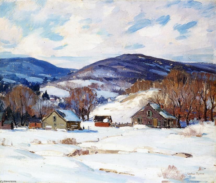 famous painting cedo neve of George Gardner Symons