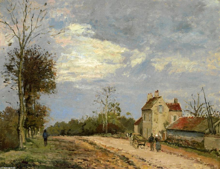 famous painting a casa do monsieur musy , route de marly , Louveciennes of Camille Pissarro