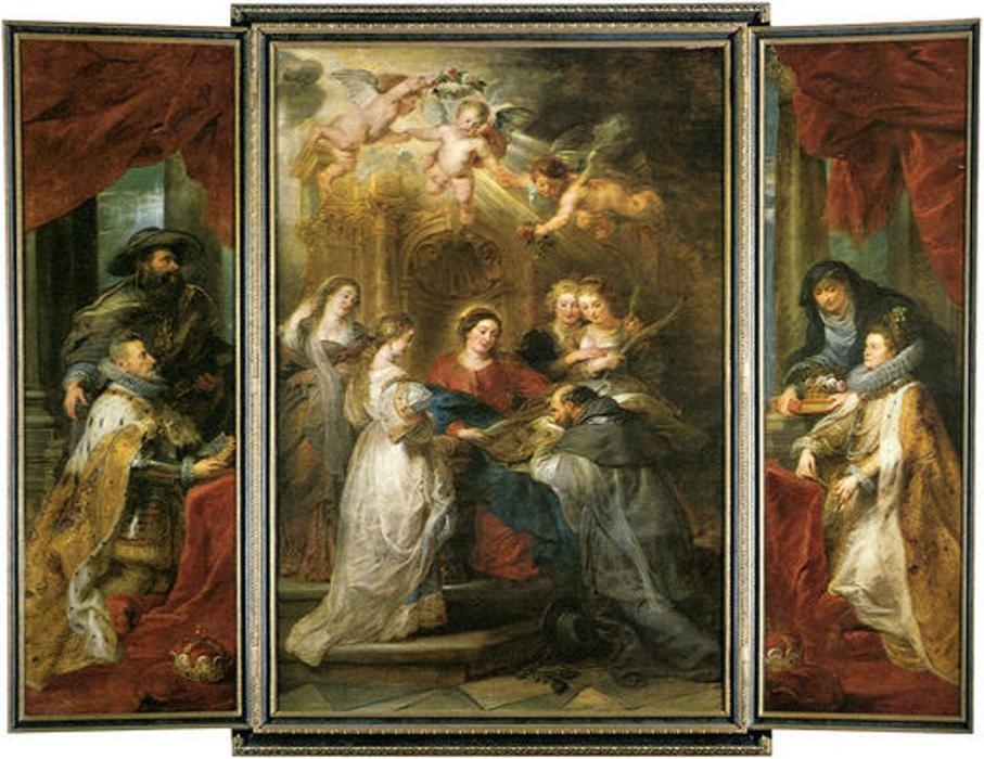 famous painting ildefonso altar of Peter Paul Rubens