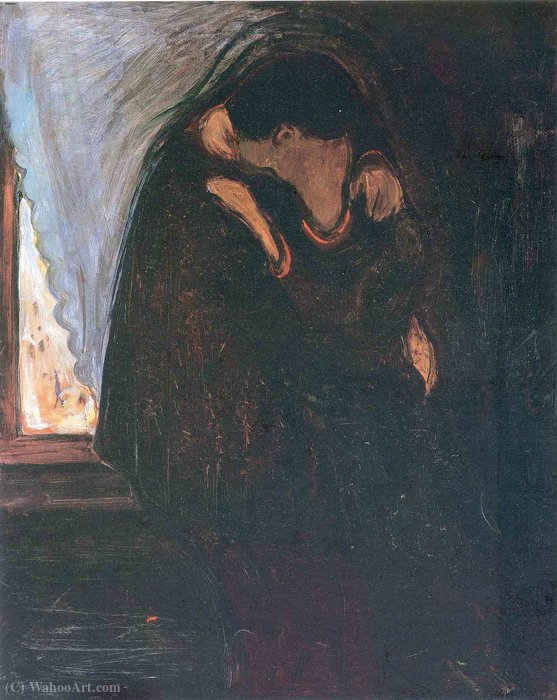 famous painting beijo of Edvard Munch