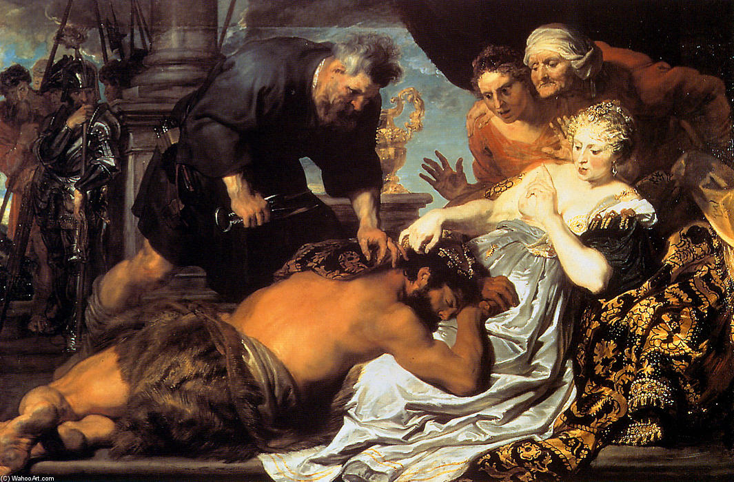 famous painting Sansão e Dalila of Anthony Van Dyck