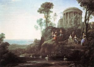 Claude Lorrain (Claude Gellée) - Apolo e as Musas no Monte Helicon
