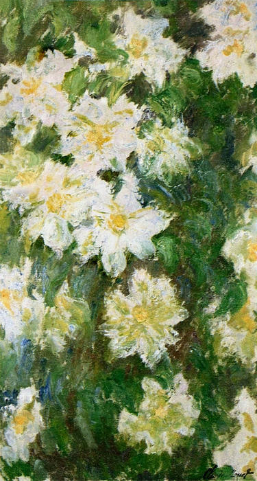 famous painting Clematis branco of Claude Monet