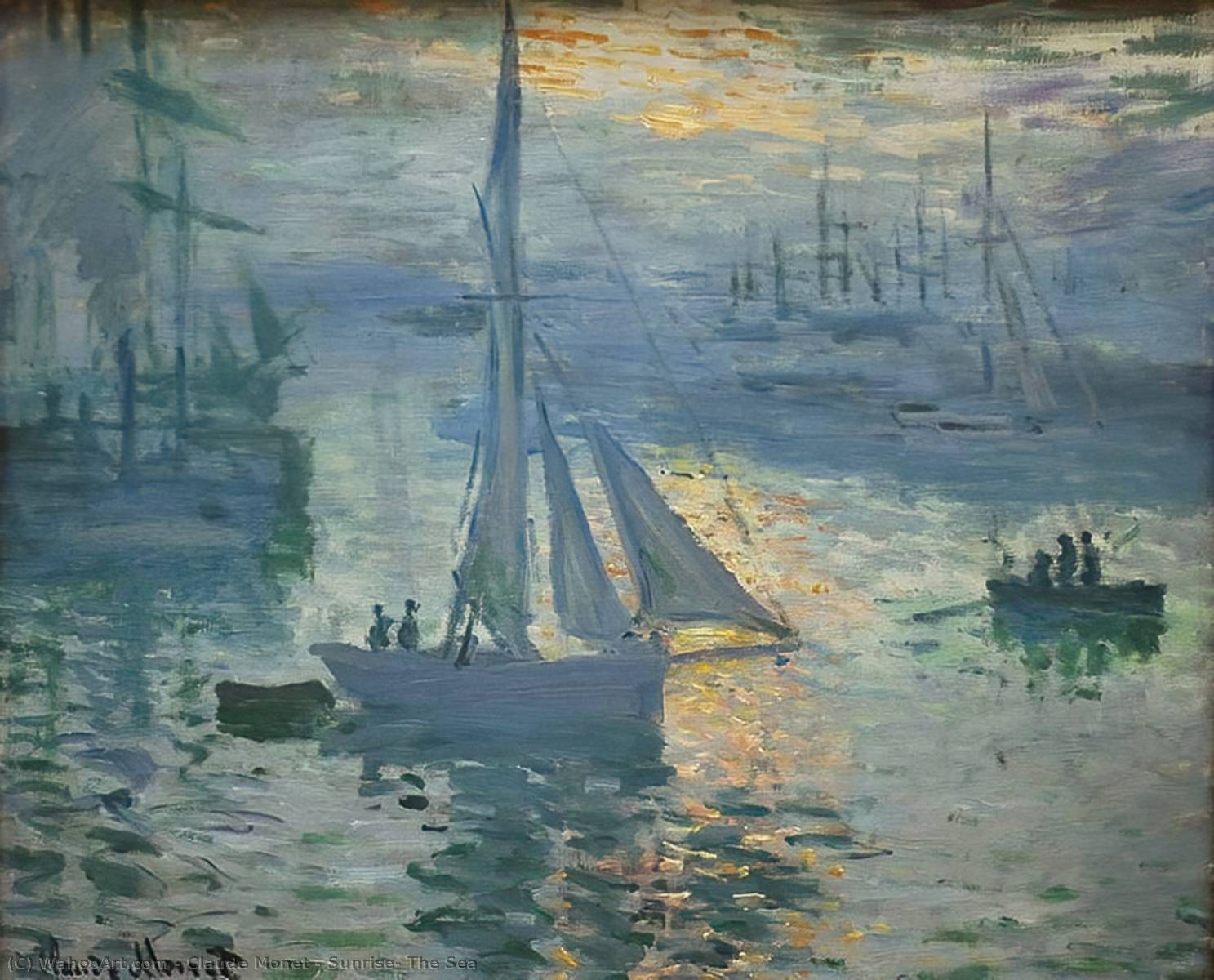 famous painting Nascer do sol o  Mar  of Claude Monet