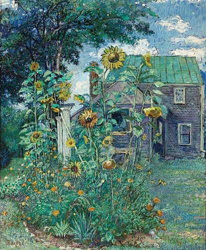 famous painting Casa do artista em Hampton Bays of David Davidovich Burliuk