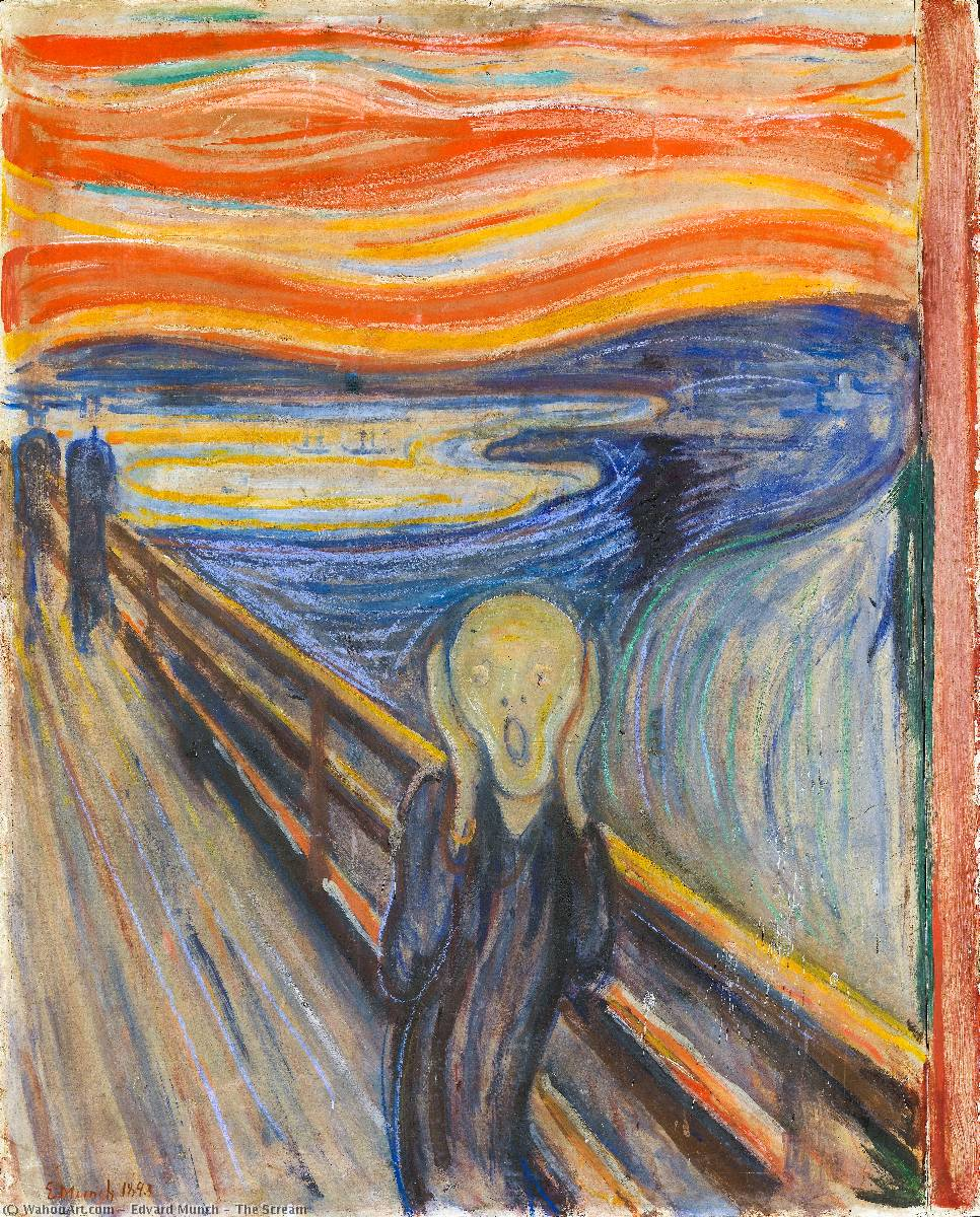 famous painting O Grito of Edvard Munch