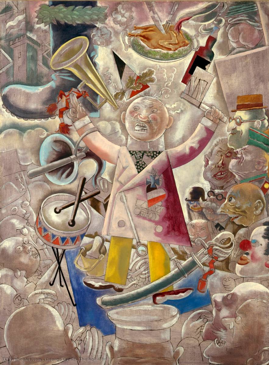famous painting O agitador of George Grosz