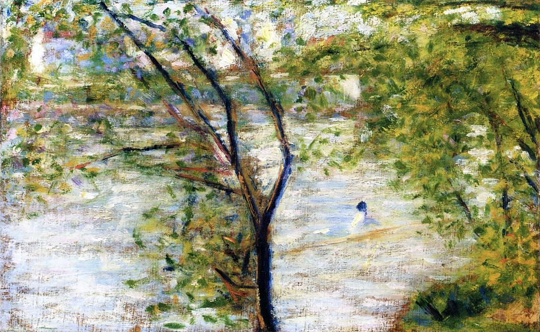 famous painting uma Canoas  of Georges Pierre Seurat