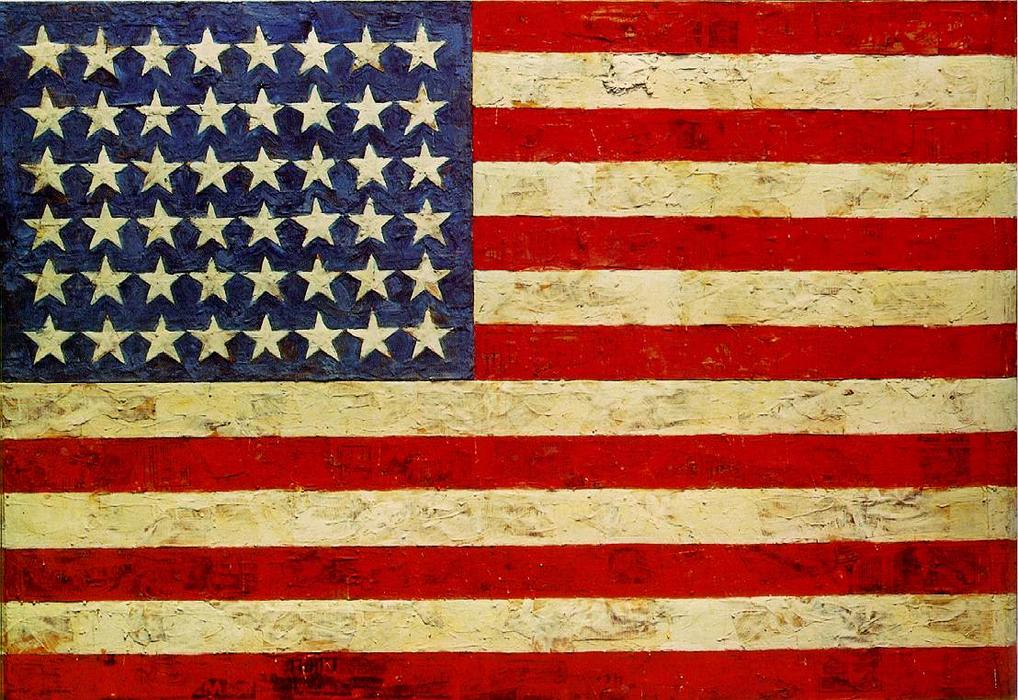 | bandeira por Jasper Johns | Most-Famous-Paintings.com