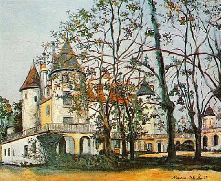 famous painting O Castelo of Maurice Utrillo