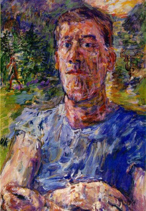 famous painting Self-portrait de um 'Degenerate Artist' of Oskar Kokoschka