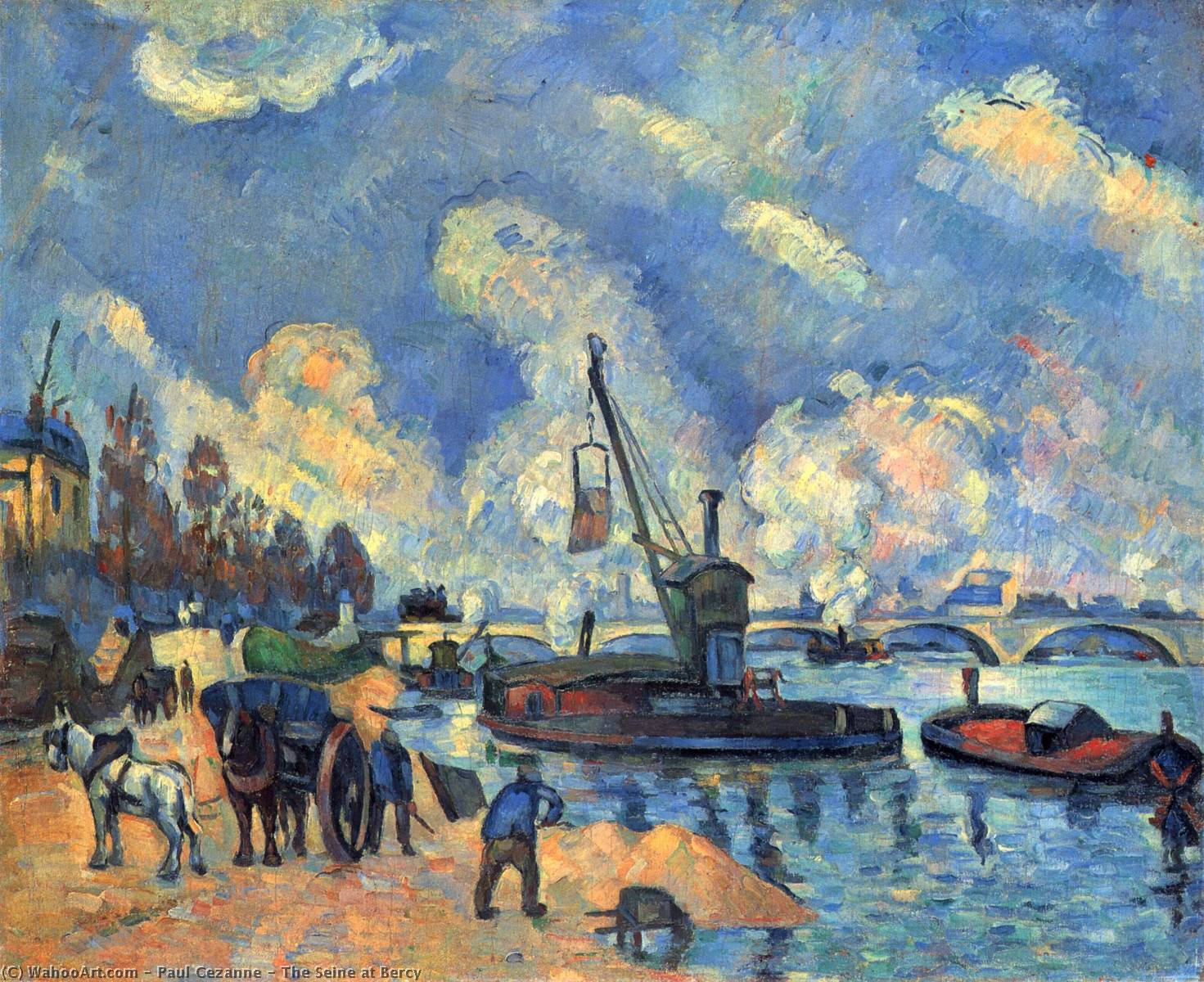 famous painting o seine em Bercy of Paul Cezanne