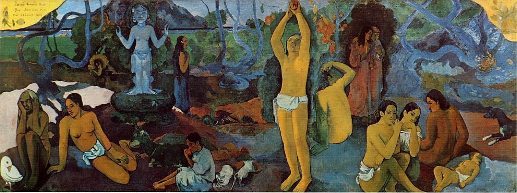 famous painting where do we vem . o que somos . para onde estamos indo . of Paul Gauguin