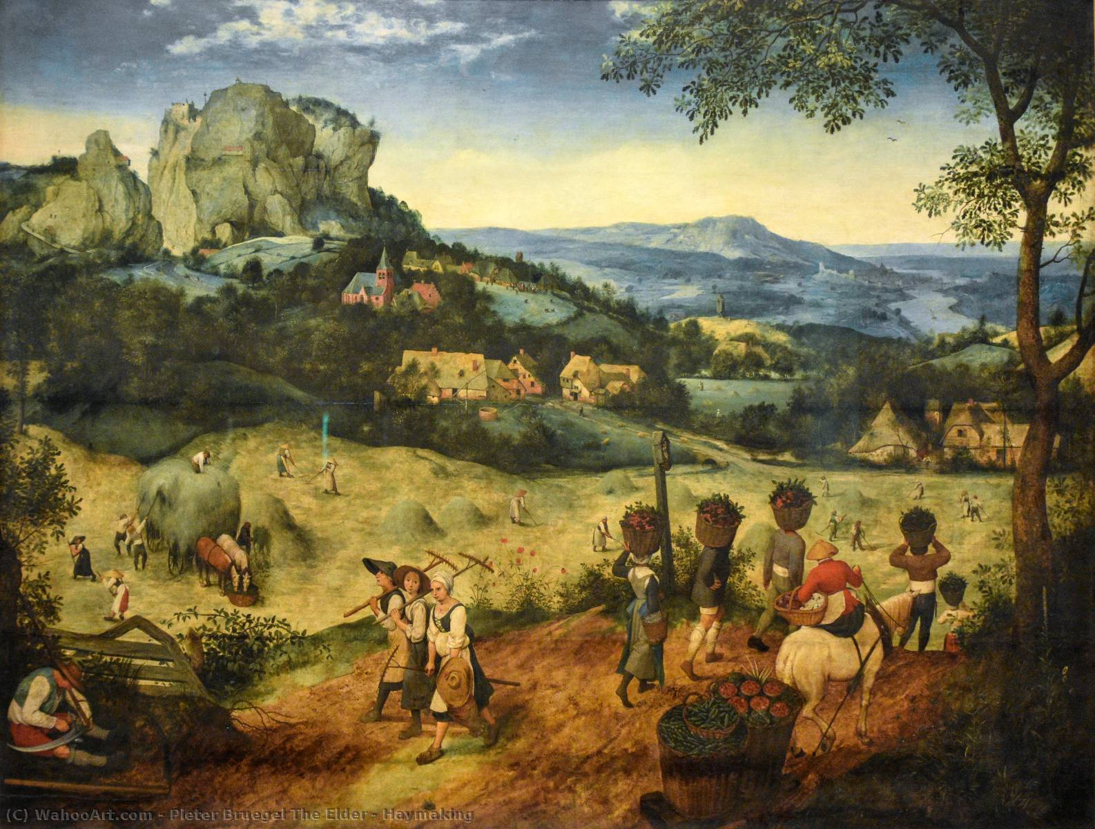 famous painting Ceifa of Pieter Bruegel The Elder