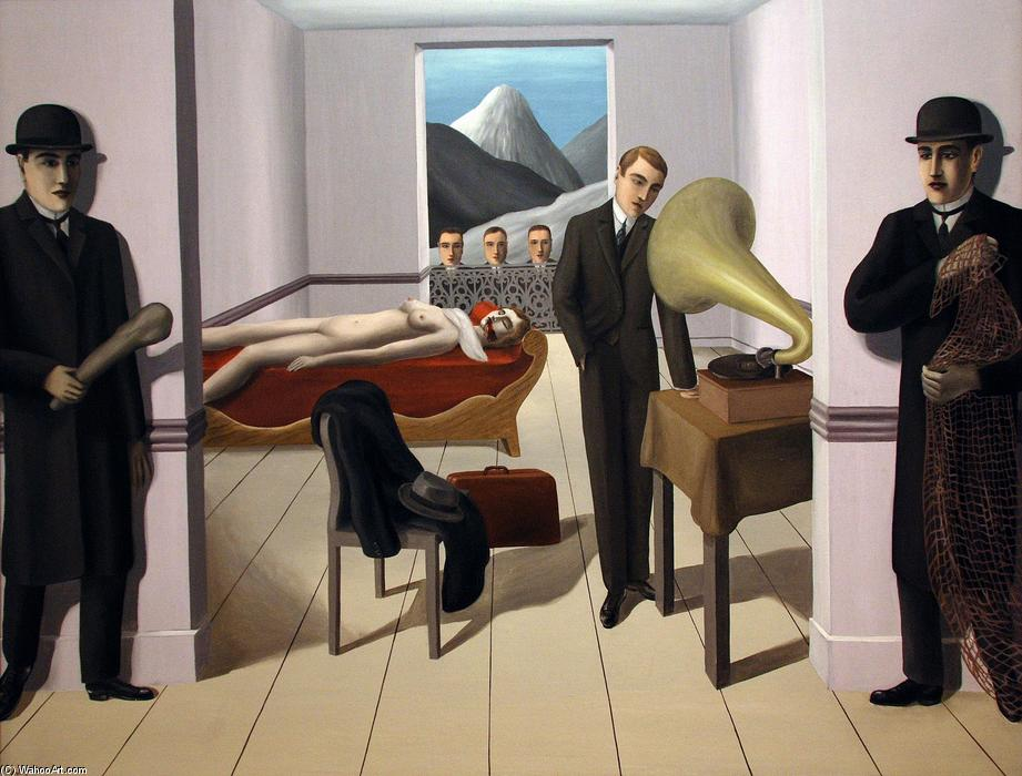 famous painting O ameaçada assassino  of Rene Magritte