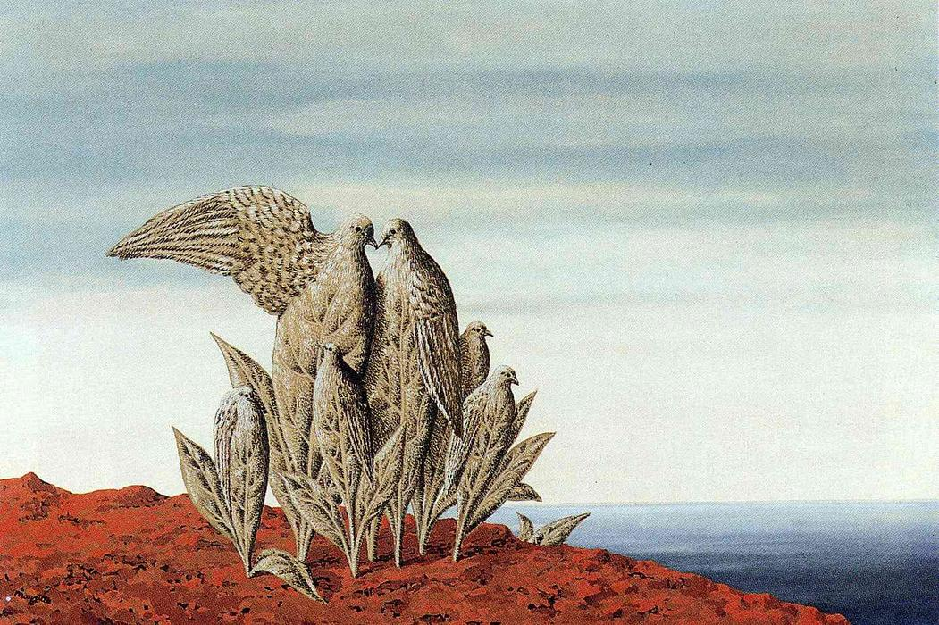 famous painting Ilha de tesouros  of Rene Magritte