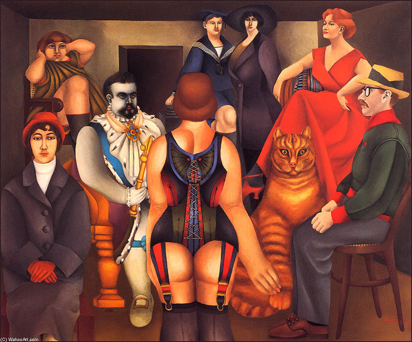 famous painting a reunião of Richard Lindner