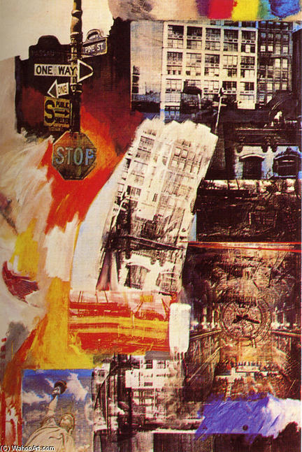 | bens de raiz por Robert Rauschenberg | Most-Famous-Paintings.com