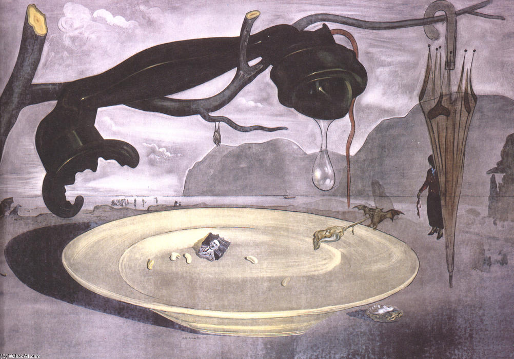 famous painting o enigma de hitler of Salvador Dali