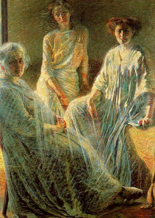 famous painting três mulheres of Umberto Boccioni