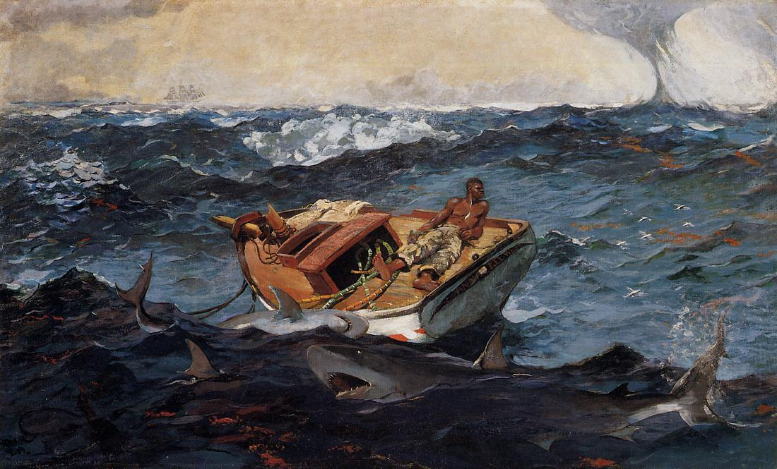 famous painting A Corrente do Golfo of Winslow Homer