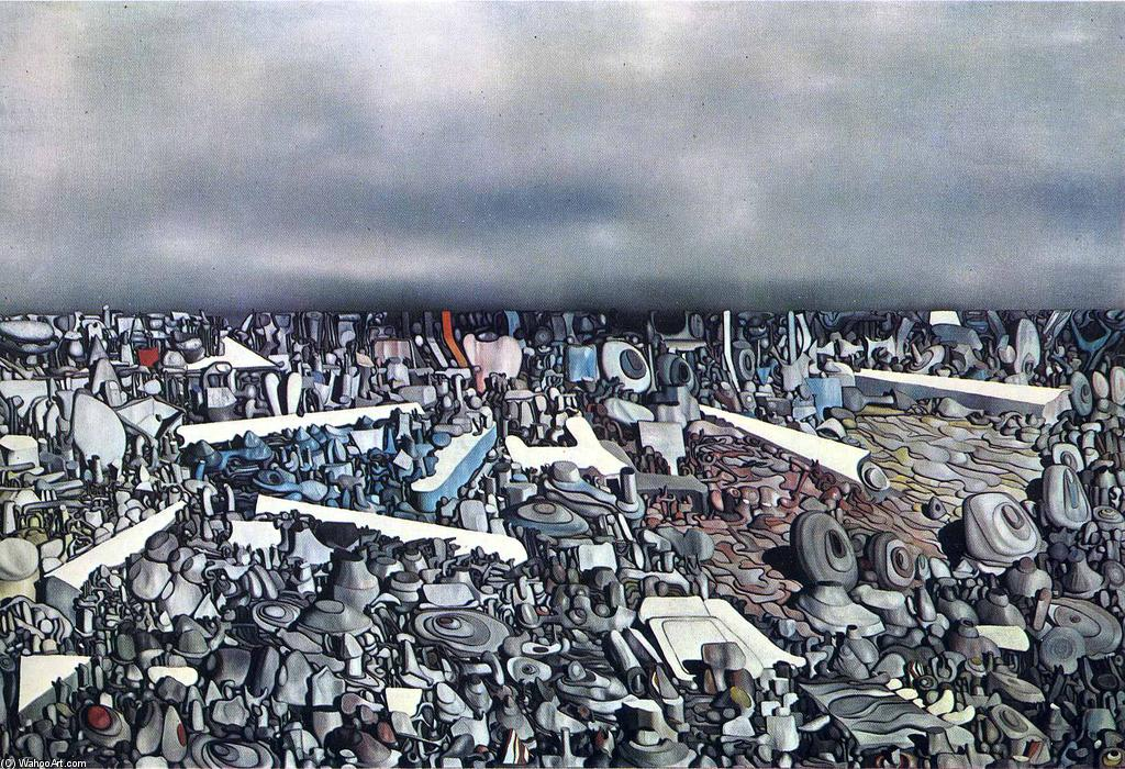 | Multiplicação dos  o  arcos  por Yves Tanguy | Most-Famous-Paintings.com