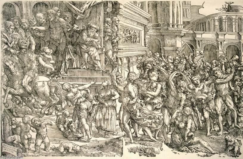 famous painting Massacre dos Inocentes of Domenico Campagnola