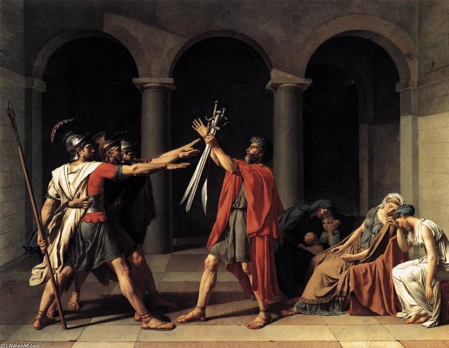 famous painting O Juramento dos Horácios of Jacques Louis David