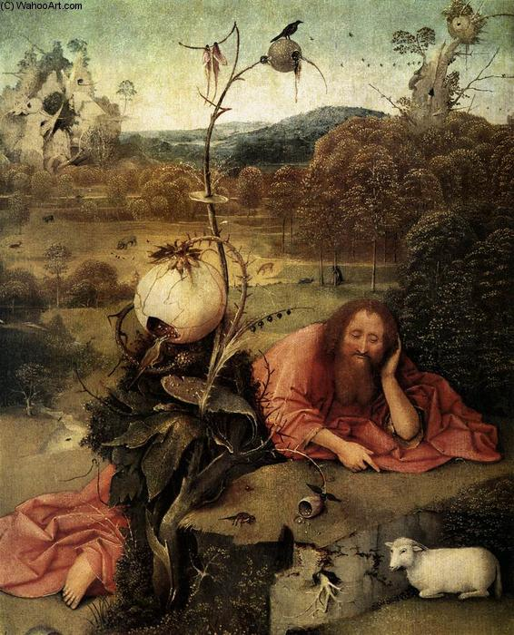 famous painting St John o baptista na região selvagem of Hieronymus Bosch