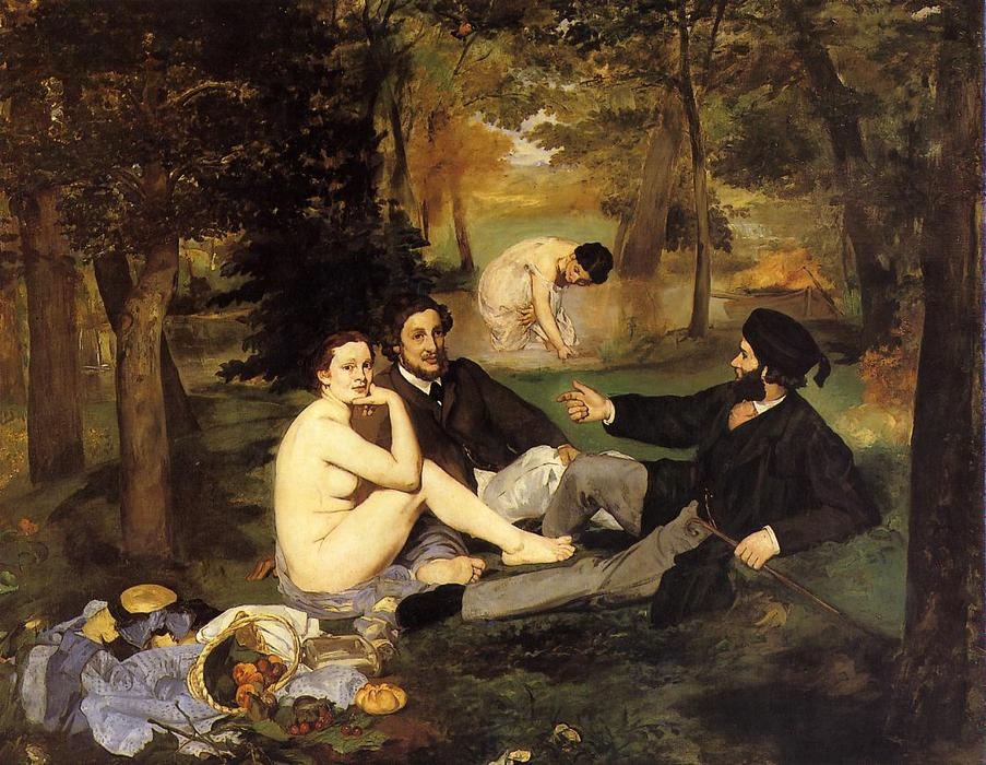 famous painting almoço na grama of Edouard Manet