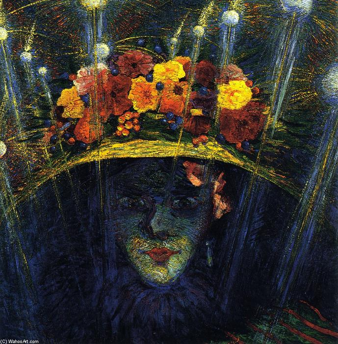 famous painting hodierno Ídolo  of Umberto Boccioni
