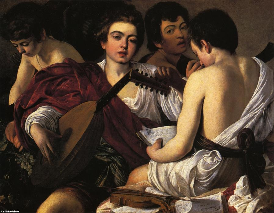 famous painting o músicos of Caravaggio (Michelangelo Merisi)