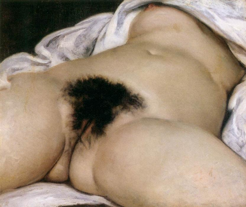 famous painting a origem dos  o  mundo  of Gustave Courbet