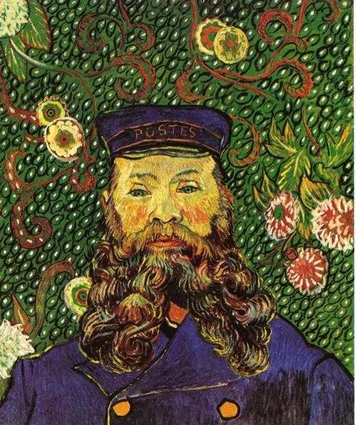 famous painting Retrato do carteiro joseph roulin of Vincent Van Gogh