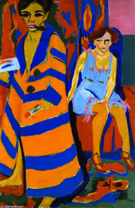 famous painting eu-portrait com  modelo  of Ernst Ludwig Kirchner