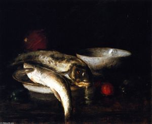 William Merritt Chase - natureza peixe