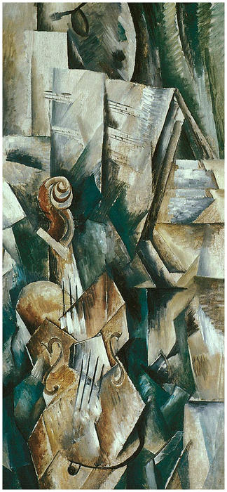 famous painting Violino e paleta  of Georges Braque