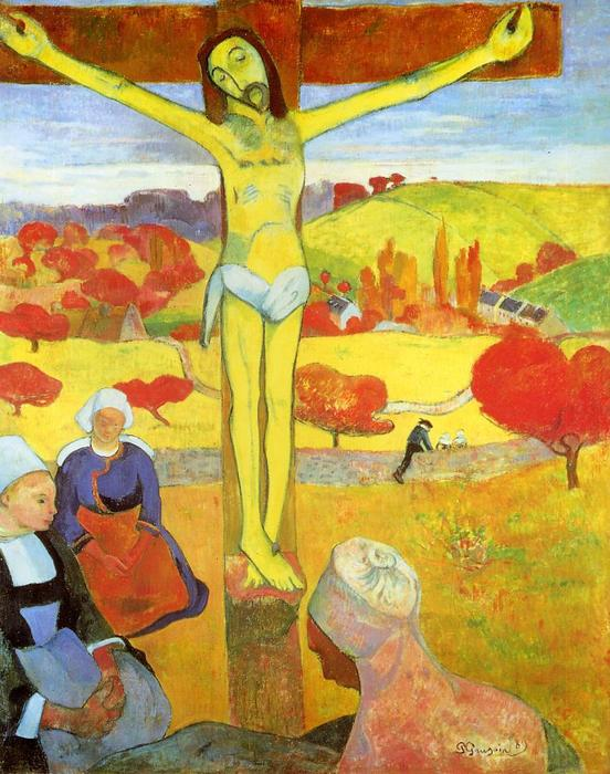 famous painting amarelo cristo of Paul Gauguin