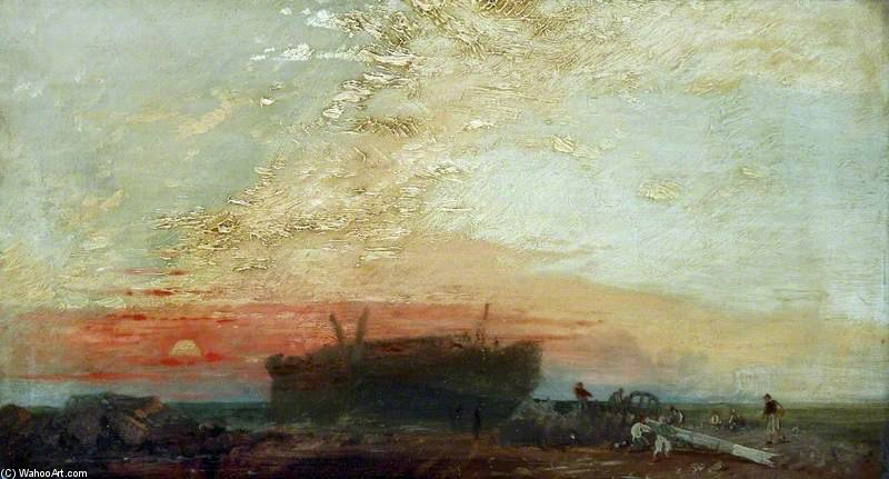 famous painting The Wreck of James Baker Pyne