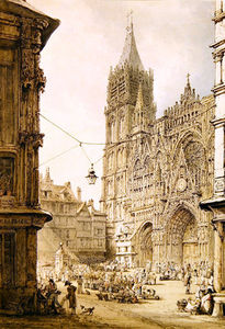 Henry Edridge - catedral de rouen Oeste frontais