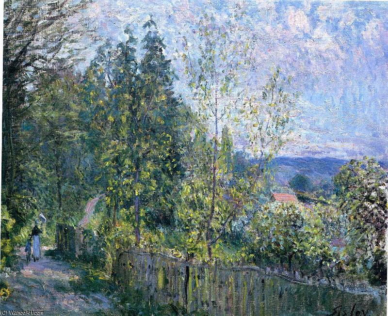 famous painting sem título (529) of Alfred Sisley