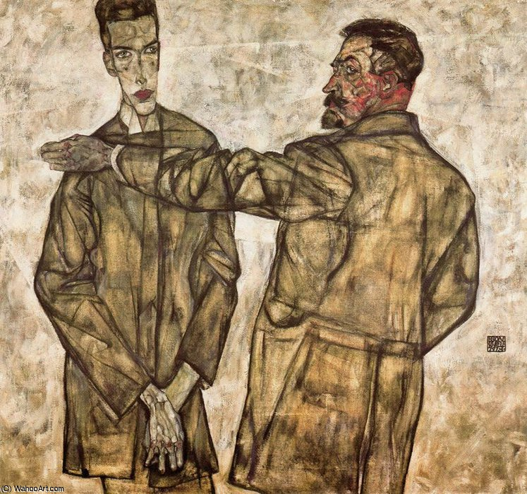 famous painting untitled (839) of Egon Schiele
