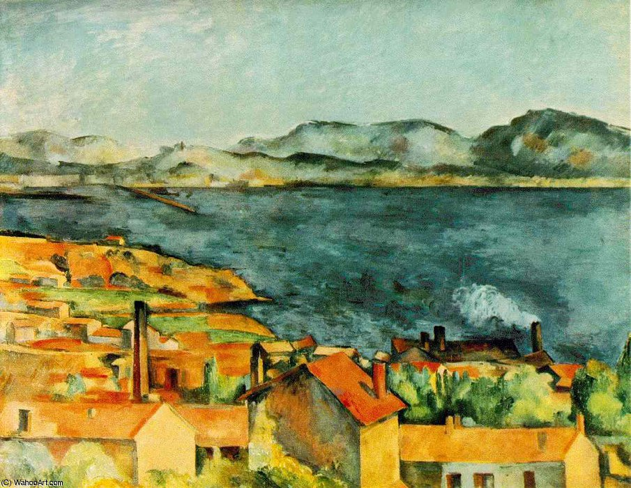 famous painting A Baía de L Estaque of Paul Cezanne