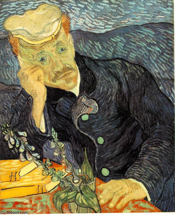 famous painting retrato do dr . Gachet , Privada of Vincent Van Gogh