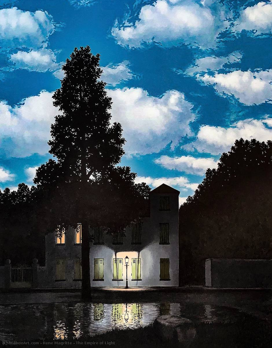 famous painting O império dos  acender  of Rene Magritte
