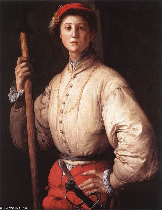 famous painting Alabardeiro of Jacopo Carucci (Pontormo)